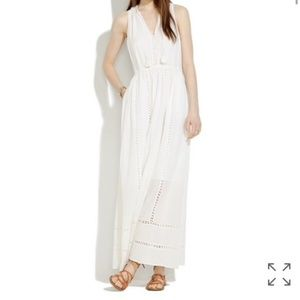 Madewell Piazza Maxi Dress, White Cotton, NWT